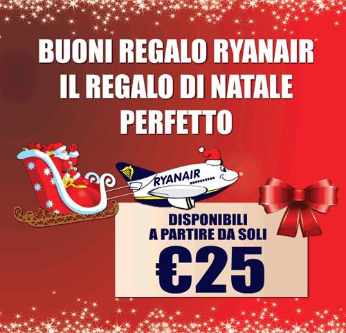 Idee regalo per Natale: on line i buoni regalo Ryanair