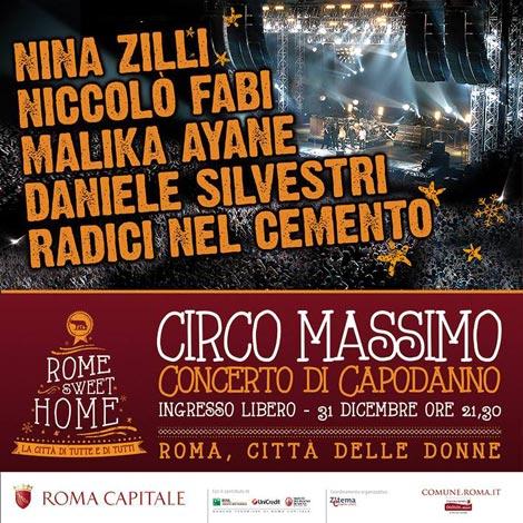 Capodanno a Roma: la capitale saluta il 2013 da Circo Massimo con Niccolò Fabi, Daniele Silvestri e Nina Zilli