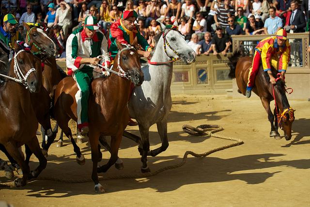 Cene itineranti e corsa a cavallo al Palio di Buti