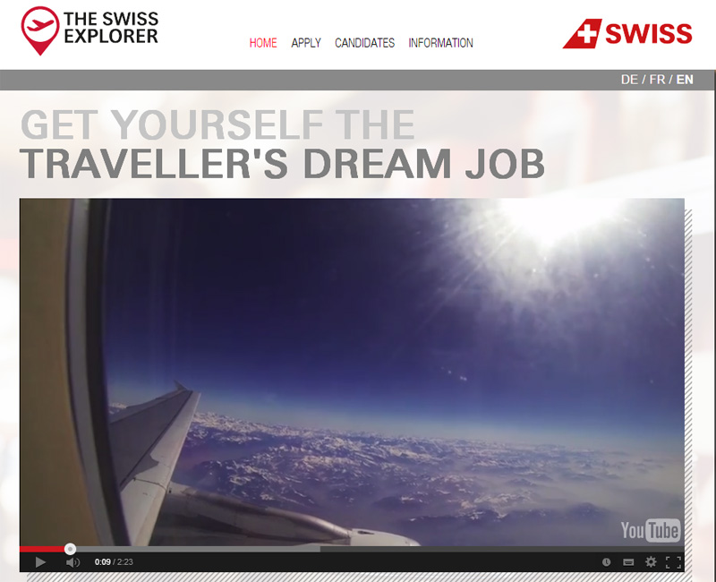 Lavorare viaggiando: Swiss Explorer con Swiss International Airlines