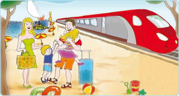 """""""Al mare in treno"""", si rinnova l'offerta Trenitalia per l'estate 2014"""