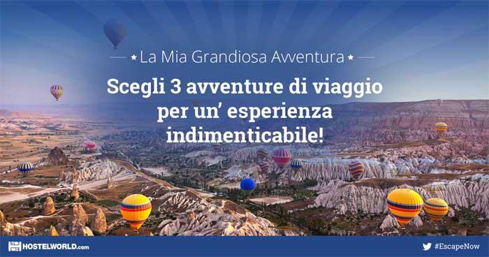 La mia Grandiosa Avventura, il concorso a premi per vincere viaggi da sogno